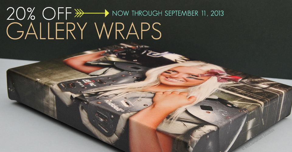 20% Off Gallery Wraps