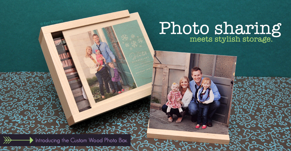 NEW- Custom Wood Photo Box