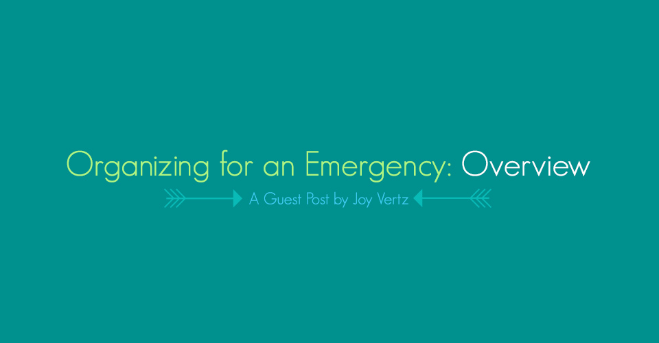 Organizing for an Emergency: Overview