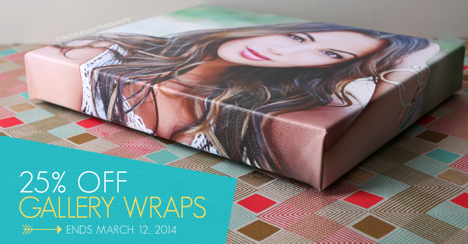 25% off Gallery Wraps!