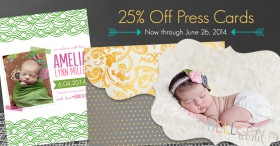 Sale: 25% off Press Cards