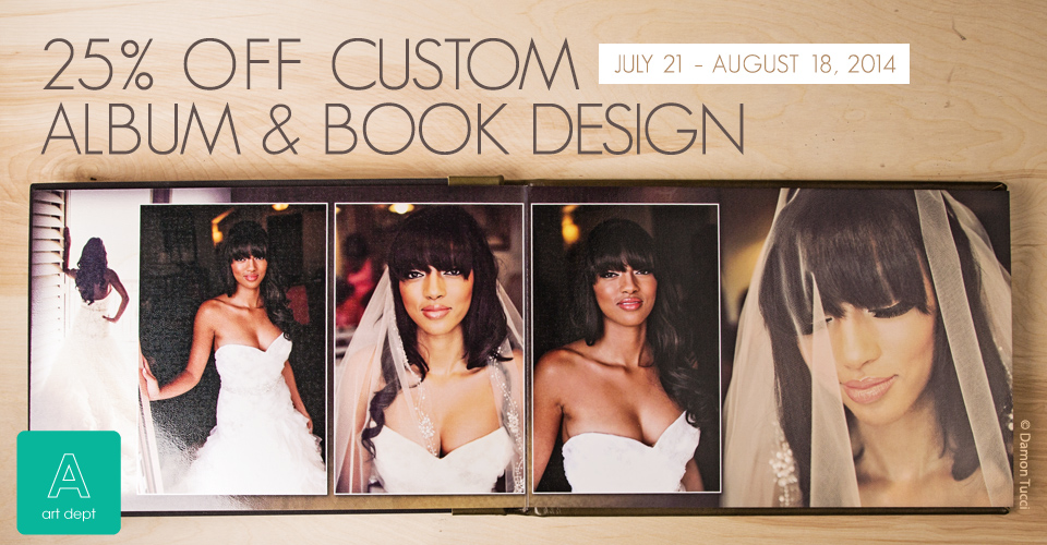 Sale: 25% off Custom Album Design