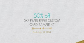 Sale: 50% off Pearl Paper Custom Sample Kit