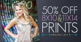 Sale: 50% off 8x10 and 11x14 Prints