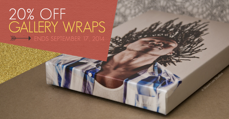 Sale: 20% off Gallery Wraps