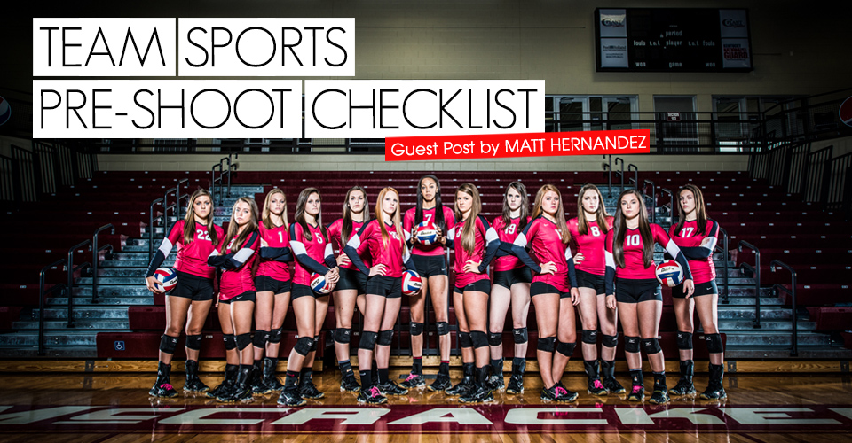 Team Sports Pre-Shoot Checklist