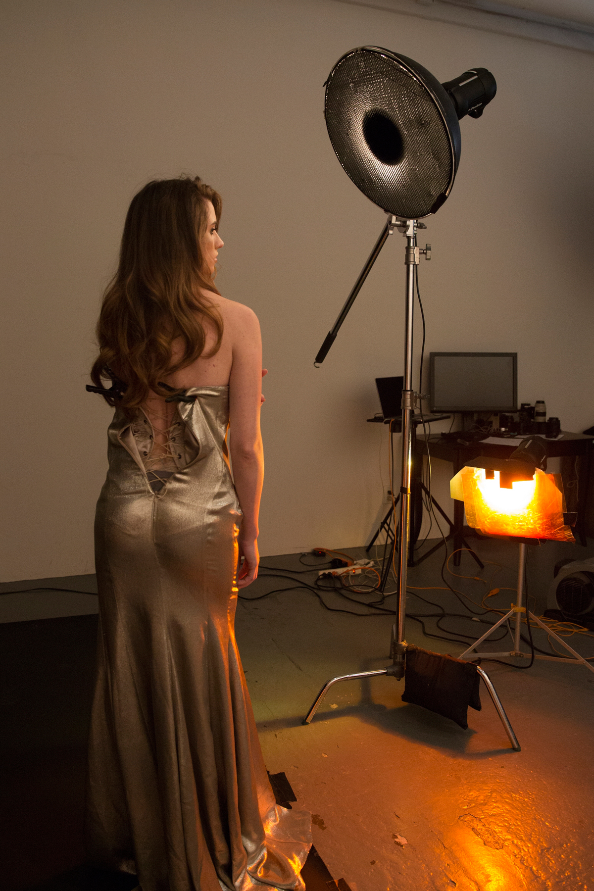 Lindsay Adler Dress On Fire Tutorial behind the scenes