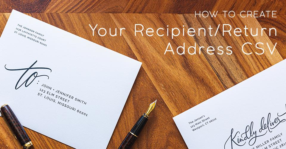 how to create your recipientreturn address csv « blog